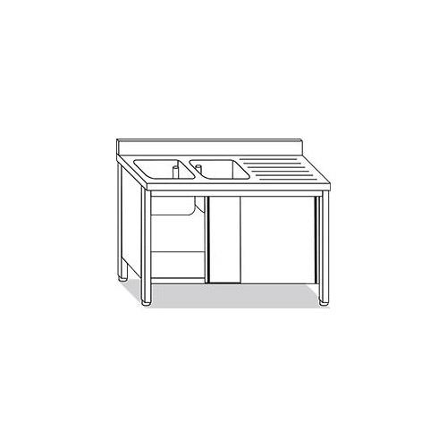 Lavello inox su armadio 2 vasche con gocciolatoio 2 ante for Arredo inox srl