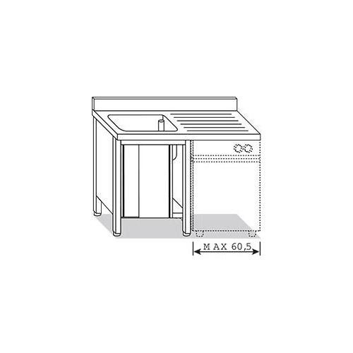 Lavatoio per lavastoviglie 1 vasca con gocciolatoio 1 for Arredo inox srl