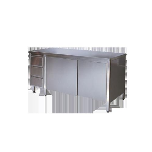 Tavoli armadio con cassetti archivi attrezzature for Arredo inox srl